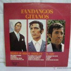 Discos de vinilo: FANDANGOS GITANOS ** EL FARY, MANOLO DE LA VEGA, EL CHOCOLATE ** VINILO (LP) FOLCLORE ESPAÑOL. Lote 53260035