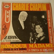 Discos de vinilo: AL KORVIN - THIS IS MY SONG / BONJOUR MADAME (BSO/OST 'LA CONDESA DE HONG KONG') (1967). Lote 53260798