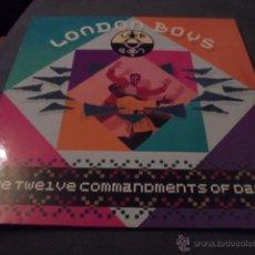 Discos de vinilo: LONDON BOYS --- THE TWELVE COMMANDMENTS OF DANCE // LETRAS CANCIONES. Lote 85474263