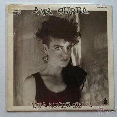 Discos de vinilo: ANA CURRA (PARALISIS PERMANENTE PEGAMOIDES) - UNA NOCHE SIN TI / LAGRIMAS (INSTRUMENTAL) (1985). Lote 53273444