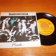 Discos de vinilo: BARRICADA PISALE / AUN QUEDA UN SITIO SINGLE VINILO PROMO 1986 ROSENDO MERCADO EL DROGAS 2 TEMAS. Lote 53274067