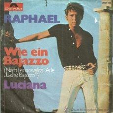 Discos de vinilo: RAPHAEL CANTA EN ALEMAN SINGLE SELLO POLYDOR EDITADO EN ALEMANIA. Lote 53277009