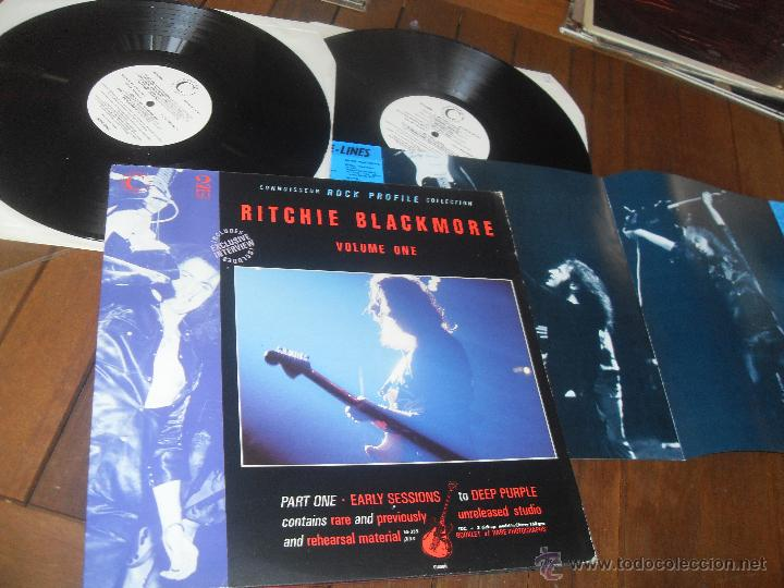 RITCHIE BLACKMORE 2 LP. VOLUME ONE. CONNOISSEUR ROCK PROFILE COLLECTION. MADE IN ENGLAND. UK. 1989. (Música - Discos - LP Vinilo - Heavy - Metal)