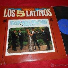 Discos de vinilo: LOS CINCO 5 LATINOS TANGOS LP 1967 BELTER. Lote 53281999