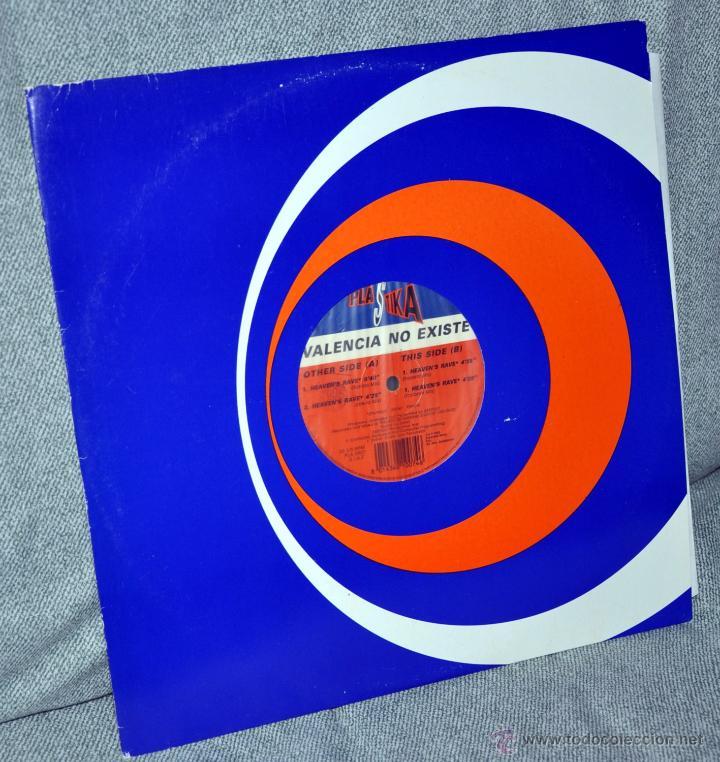 """VALENCIA NO EXISTE - MAXI-SINGLE VINILO 12"""" - 4 TRACKS - HEAVEN'S RAVEN - PLASTIKA - AÑO 1993 (Música - Discos - LP Vinilo - Grupos Españoles de los 90 a la actualidad)"""