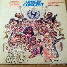 Discos de vinilo: MUSIC FOR UNICEF. Lote 53292873