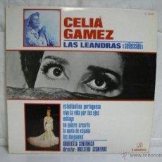 Discos de vinilo: CELIA GAMEZ ** SELECCION DE LAS LEANDRAS ** VINILO (LP) FOLCLORE ESPAÑOL. Lote 53297000