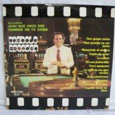 Discos de vinilo: MANOLO ESCOBAR ( SELECCION DE PELÍCULA: EVA! QUÉ HACE ESE HOMBRE EN TU CAMA) ** BELTER. Lote 96857436