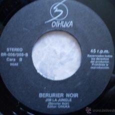 Discos de vinilo: BERURIER NOIR. NUIT APACHE + JIM LA JUNGLE. PROMOCIONAL. ORIGINAL AÑO 1988. ALGUN DEFECTO. Lote 53299426
