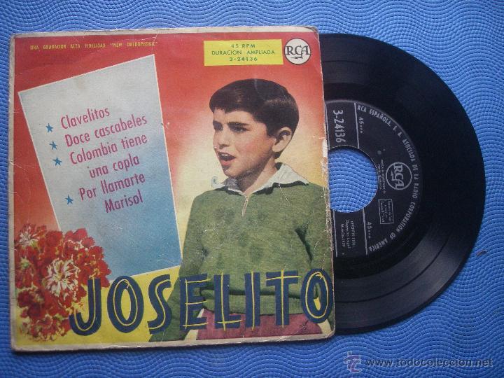 JOSELITO CLAVELITOS + 3 EP SPAIN 1959 PDELUXE (Música - Discos de Vinilo - EPs - Solistas Españoles de los 50 y 60)