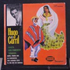 Discos de vinilo: HUGO DEL CARRIL. ADIOS, PAMPA MIA + 3. EP. SEECO DISCOPHON, 1962. LITERACOMIC.. Lote 53312338