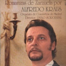 Discos de vinilo: ROMANZAS DE ZARZUELA POR ALFREDO KRAUS ..LP. Lote 53325473