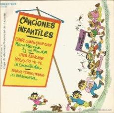 Discos de vinilo: CANCIONES INFANTILES-MARY MERCHE Y SU PANDA + LA CHIQUILLADA + LOS VALLDEMOSA EP VINILO 1973 SPAIN. Lote 53331166