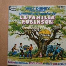 Discos de vinilo: LA FAMILIA ROBINSON - HISPAVOX - WALT DISNEY - 1976 - CUENTO PARA LEER Y ESCUCHAR. Lote 53333135