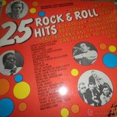 Discos de vinilo: 25 ROCK N ROLL HITS LP - EDICION HOLANDESA SIN FECHA - MAXI MUSIC RECORDS - STEREO - VARIOS ARTISTAS. Lote 53333446