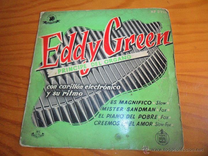 EDDY GREEN, PRINCIPE DEL ORGANO - MISTER SANDMAN + 3 - EP 50'S (Música - Discos de Vinilo - EPs - Orquestas)