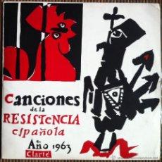 Discos de vinilo: CHICHO SÁNCHEZ FERLOSIO. CANCIONES DE LA RESISTENCIA ESPAÑOLA. 1964 - 1ª EDICIÓN, SUECIA. Lote 53341485