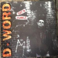 Discos de vinilo: D-WORD - GET'N FUNK.E . MAXI SINGLE . 1991 NETHERLANDS . Lote 53350848