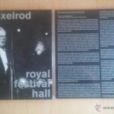 Discos de vinilo: DAVID AXELROD LIVE ROYAL FESTIVAL HALL - DOBLE LP. Lote 53352731