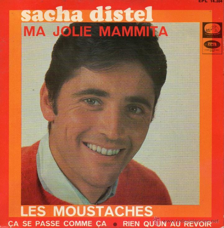 SACHA DISTEL, EP, LES MOUSTACHES + 3, AÑO 1967 (Música - Discos de Vinilo - EPs - Canción Francesa e Italiana)