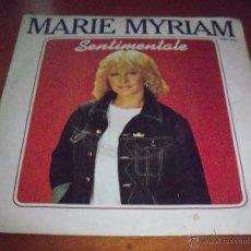 Discos de vinilo: SINGLE DE MARIE MYRIAM, SENTIMENTALE. EDICION POLYDOR DE 1982 (FRANCIA).. Lote 53353877