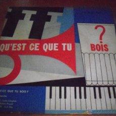 Discos de vinilo: SINGLE DE ROBERT PIQUET, QU'EST CE QUE TU BOIS. EDICION DECCA (FRANCIA) RARA.. Lote 53353975