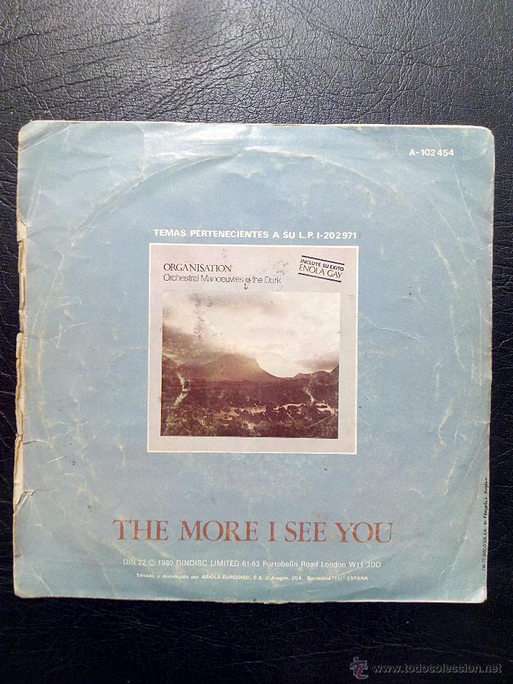 Discos de vinilo: ORCHESTRAL MANOEUVRES IN THE DARK - ENOLA GAY - THE MORE I SEE YOU - ARIOLA 1981. - Foto 2 - 53356164