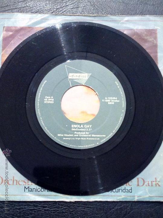 Discos de vinilo: ORCHESTRAL MANOEUVRES IN THE DARK - ENOLA GAY - THE MORE I SEE YOU - ARIOLA 1981. - Foto 3 - 53356164