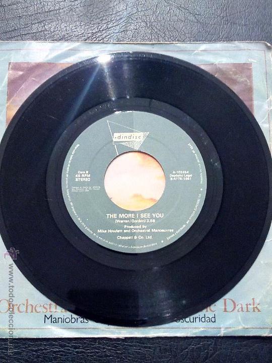 Discos de vinilo: ORCHESTRAL MANOEUVRES IN THE DARK - ENOLA GAY - THE MORE I SEE YOU - ARIOLA 1981. - Foto 4 - 53356164