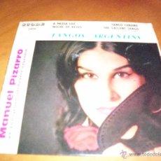 Discos de vinilo: SINGLE DE MANUEL PIZARRO Y SU ORQUESTA ARGENTINA, TANGOS ARGENTINS. EDICION SCORE (FRANCIA).. Lote 53358206