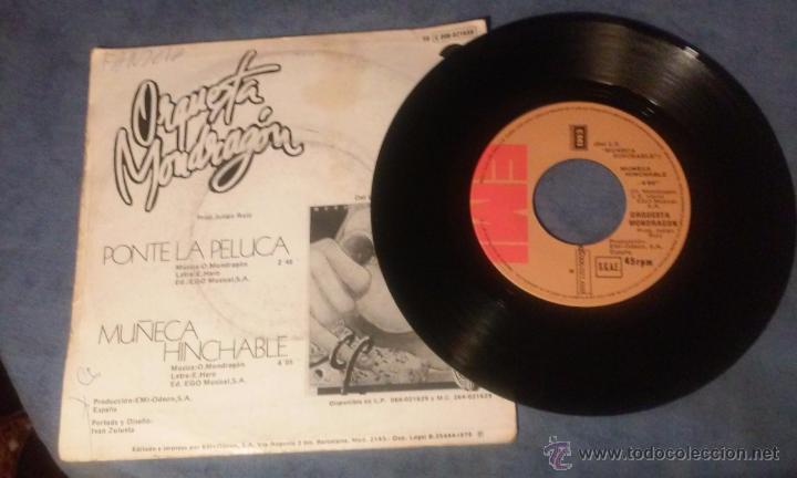 Discos de vinilo: ORQUESTA MONDRAGON - PONTE LA PELUCA - SINGLE - Foto 4 - 53360918