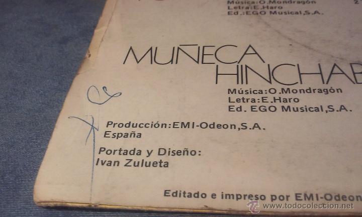 Discos de vinilo: ORQUESTA MONDRAGON - PONTE LA PELUCA - SINGLE - Foto 7 - 53360918