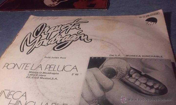 Discos de vinilo: ORQUESTA MONDRAGON - PONTE LA PELUCA - SINGLE - Foto 9 - 53360918