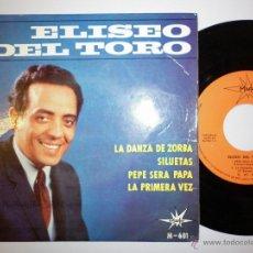 Discos de vinilo: ELISEO DEL TORO - 1965 EP. Lote 53377584