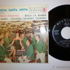 Discos de vinilo: ORQUESTA SANTA ANITA - 1962 EP. Lote 53377854