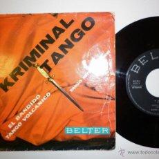 Discos de vinilo: GIANNI Y SU CONJUNTO - KRIMINAL TANGO - EP. Lote 53377933