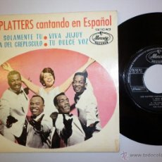 Discos de vinilo: THE PLATTERS - LOS PLATTERS CANTANDO EN ESPAÑOL- EP. Lote 82492479