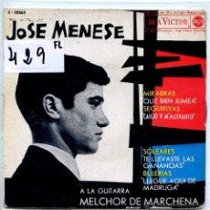 Discos de vinil: JOSE MENESE / TE LLEVASTE LAS GANANCIAS / QUE BIEN JUMEA + 2 (EP 1963). Lote 255935555