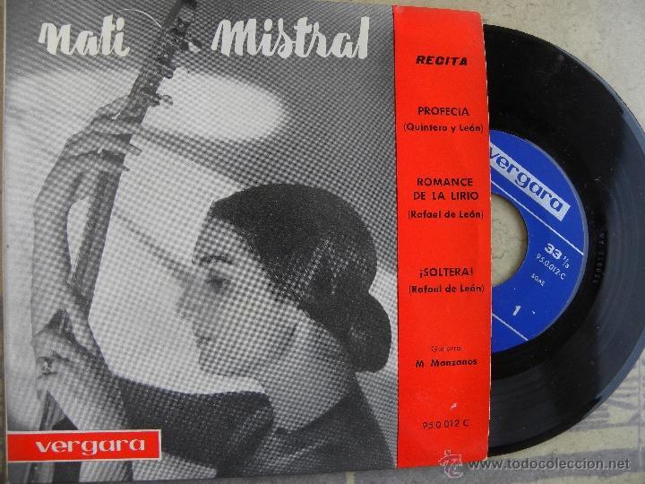 NATI MISTRAL -EP 1962 -VERGARA (Música - Discos de Vinilo - EPs - Flamenco, Canción española y Cuplé)