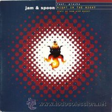 Discos de vinilo: JAM & SPOON FEAT. PLAVKA ?– RIGHT IN THE NIGHT (FALL IN LOVE WITH MUSIC). Lote 53383792