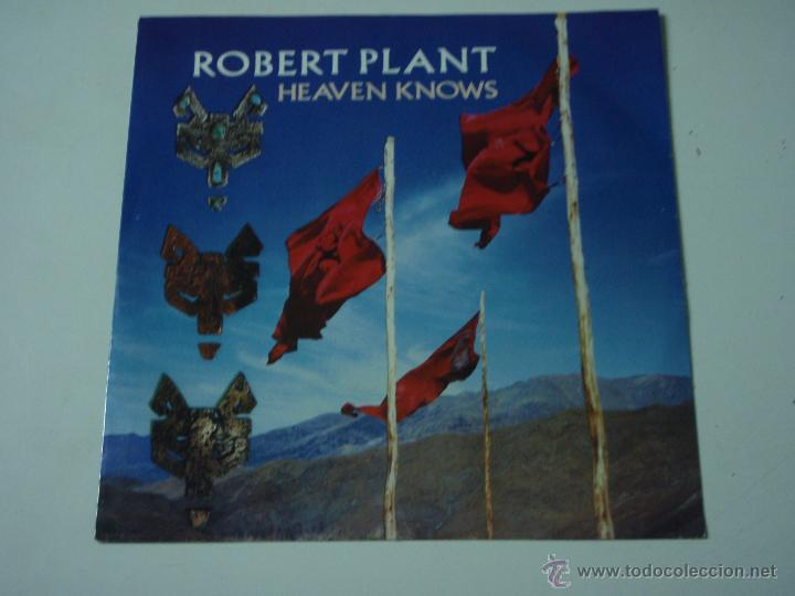 ROBERT PLANT '' 'EX LED ZEPPELIN'' ( HEAVEN KNOWS - WALKING TOWARDS PARADISE ) 1988-GERMANY (Música - Discos de Vinilo - Singles - Pop - Rock Extranjero de los 80)