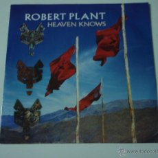 Discos de vinilo: ROBERT PLANT '' 'EX LED ZEPPELIN'' ( HEAVEN KNOWS - WALKING TOWARDS PARADISE ) 1988-GERMANY . Lote 53384340