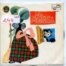 Discos de vinilo: LA RATITA PRESUMIDA (TEATRO INVISIBLE DE RADIO NACIONAL DE BARCELONA) EP PROMO 1967. Lote 53387460