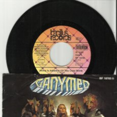 Discos de vinilo: GANYMED SINGLE MONEY IS ADDICTION / STAR OF LOVE 1980.ALEMANIA. Lote 53392756