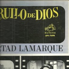 Discos de vinilo: LIBERTAD LAMARQUE.LP SELLO RCA VICTOR EDITADO EN VENEZUELA DE LA PELICULA ARRULLO DE DIOS.. Lote 53395311