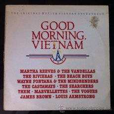 Discos de vinilo: GOOD MORNING VIETNAM - BSO - BEACH BOYS, THE VOGUES, JAMES BROWN, LOUIS ARMSTRONG... LP 1988 . Lote 53403079