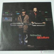 Discos de vinilo: PET SHOP BOYS ( DJ CULTURE - MUSIC FOR BOYS ) ENGLAND - 1991 SINGLE45 PARLOPHONE. Lote 53406266