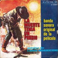 Disques de vinyle: ENNIO MORRICONE. LA MUERTE TENÍA UN PRECIO (BSO) POKER DE ASES/ RINDIENDO CUENTAS/ EL VICIO DE MATAR. Lote 53420363
