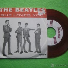 Discos de vinilo: THE BEATLES SHE LOVES YOU SINGLE USA 1964 PDELUXE. Lote 53424646