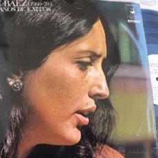 Discos de vinilo: JOAN BAEZ (1960-70) DIEZ AÑOS DE EXITOS -DOBLE LP 1970. Lote 53438271